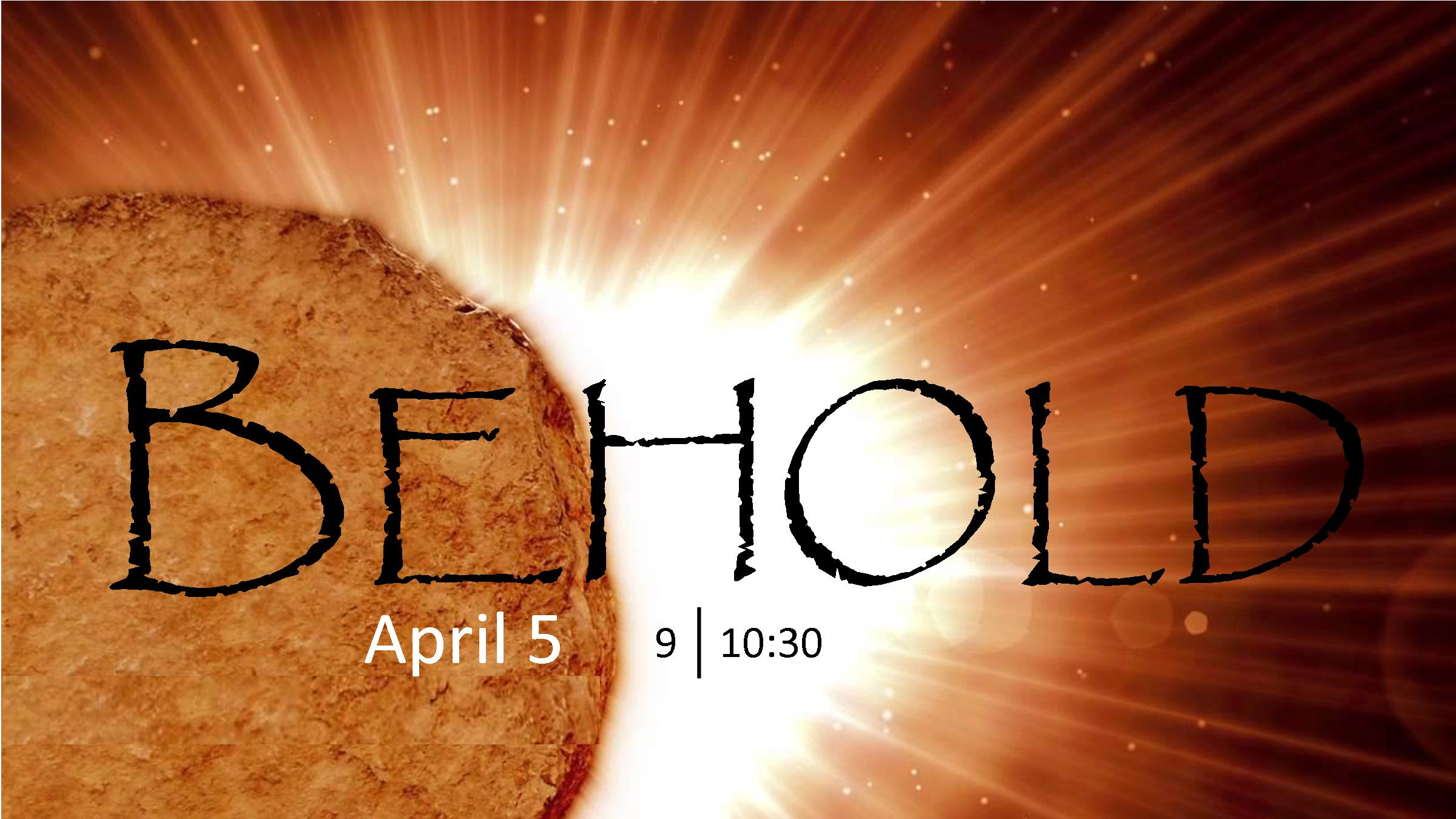 He is Risen! Worship services at 9:00 and 10:30